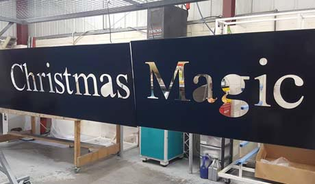 Christmas powder coating job