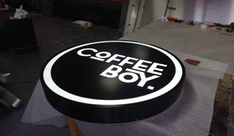 Costa boy powder coated sign