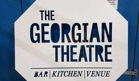 The Georgian Theatre sign